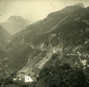 Switzerland Finhaut Aiguilles Rouges Possemiers Amateur Stereoview Photo 1910