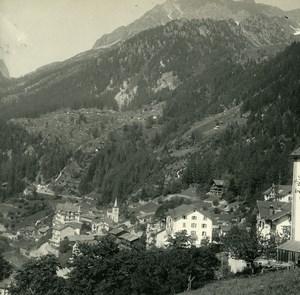 Switzerland Finhaut Gueulaz Bel Oiseau Possemiers Amateur Stereoview Photo 1910