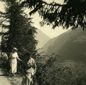 Switzerland Finhaut Gorges de Trient Possemiers Amateur Stereoview Photo 1910