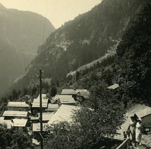Switzerland Le Tretien Tete Noire Old Possemiers Amateur Stereoview Photo 1910