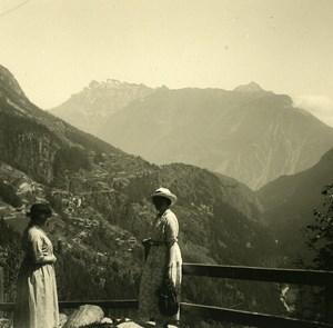 Switzerland Dent de Morcles Grand Chavalard Amateur Stereoview Photo 1910