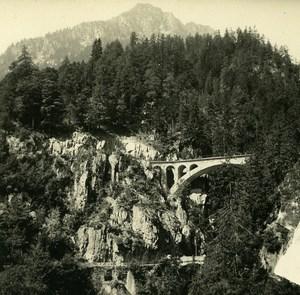 Switzerland Le Trétien gorge du Triège Possemiers Amateur Stereoview Photo 1910