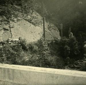 Suisse Moutier Gorges de Court ancienne Photo Stereo Amateur Possemiers 1910