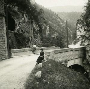 Switzerland Jura Gorge de Moutier Old Possemiers Amateur Stereoview Photo 1910