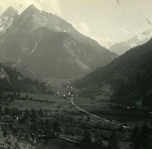 Switzerland Val d'Hérens Dents Veisivi Possemiers Amateur Stereoview Photo 1910