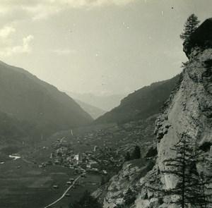 Switzerland Val d'Hérens Villla Evolène Possemiers Amateur Stereoview Photo 1910