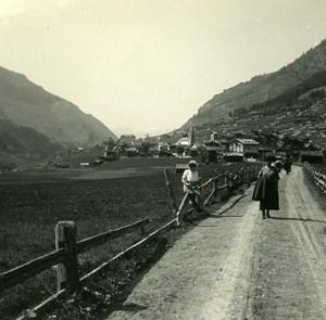 Val d'Hérens Hotel de la dent Blanche Possemiers Amateur Stereoview Photo 1910