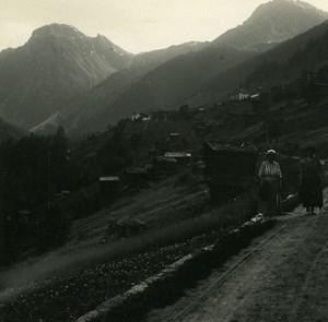 Switzerland val d'Anniviers Grimentz Possemiers Amateur Stereoview Photo 1910