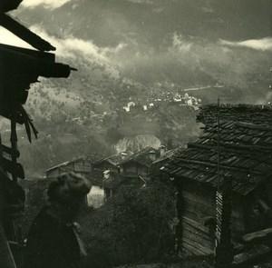 Switzerland val d'Anniviers Pinsec Vissoie Possemiers Amateur Stereo Photo 1910
