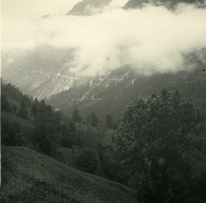 Switzerland val d'Anniviers Mayoux Old Possemiers Amateur Stereoview Photo 1910