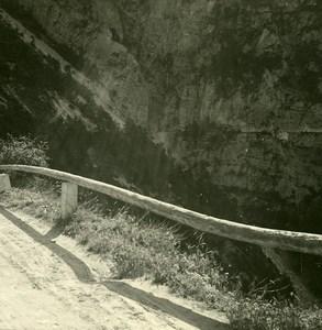 Switzerland val d'Anniviers Vissoie Road Old Amateur Stereoview Photo 1910