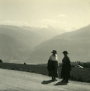 Switzerland Montana Val d'Anniviers Old Possemiers Amateur Stereoview Photo 1910