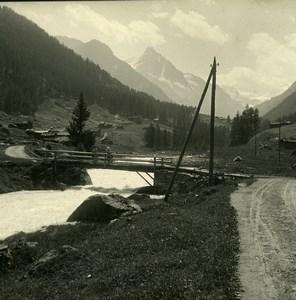Switzerland Val d'Anniviers Praz Long Possemiers Amateur Stereoview Photo 1910