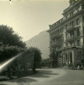 Switzerland Meiringen Hotel du Sauvage Possemiers Amateur Stereoview Photo 1910