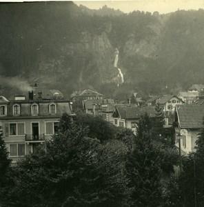 Switzerland Meiringen Alpbach Falls Old Possemiers Amateur Stereoview Photo 1910