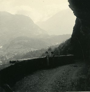 Switzerland Meiringen Hasli valley Old Possemiers Amateur Stereoview Photo 1910