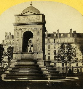 France Paris Fontaine des Innocents Fountain Old Stereo Photo 1860