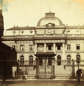 France Paris Palais de Justice Old Stereo Photo 1858