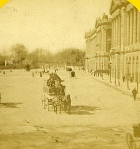 France Paris Palais du Louvre Palace Old Stereo Photo 1870