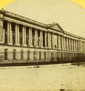 France Paris Palais du Louvre Palace Old Stereo Photo 1859