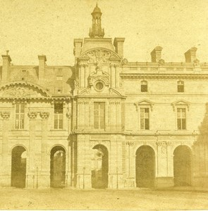 France Paris Palais du Louvre Palace Old Stereo Photo 1858