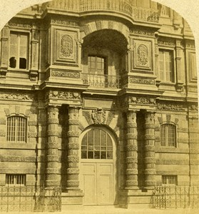 France Paris Palais des Tuileries Palace Door Old Stereo Photo 1858