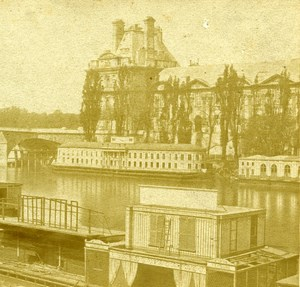 France Paris Palais des Tuileries Panorama ancienne Stereo Photo 1860