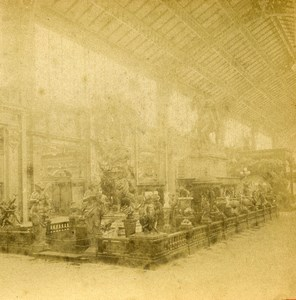 France Paris Expo Universelle Galerie des Industries ancienne Stereo Photo LL 1889