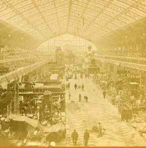 France Paris Expo Universelle Palais des Machines ancienne Stereo Photo LL 1889