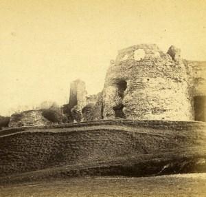 France Dieppe Château d'Arques-la-Bataille Castle Old Stereo Photo Lepetit 1860