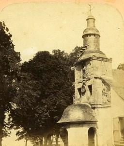 France Honfleur Notre Dame de Grace Church Old Stereo Photo 1860