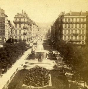 France Lyon rue Imperiale ancienne Stereo Photo 1858