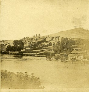 France French Countryside Hills Village River panorama Old Stereo Photo 1860