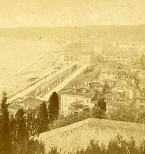 France Nice Villa Littoral de la Mediterranee Old St Germain Stereo Photo 1870