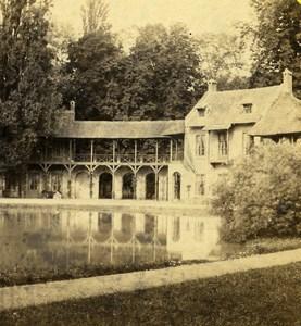 France Versailles Petit Trianon Hamlet Maison du Seigneur Lamy Stereo Photo 1870