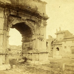 Italie Rome Arc de Titus ancienne Stereo Photo 1865