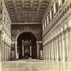 Italy Rome Roma Vatican Palace Interior Old Stereoview Photo 1865