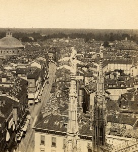 Italy Florence Firenze ? Panorama Old Stereoview Photo Brogi 1865