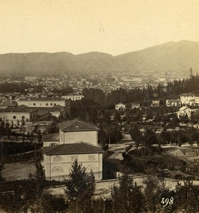 Italy Florence Firenze from Viale dei Colli Old Stereoview Photo Alinari 1865