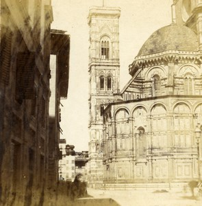 Florence Firenze Cathedral Santa Maria del Fiore Stereoview Photo Alinari 1865