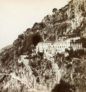 Italy Amalfi Cappuccini Convento Old Stereoview Photo Sommer 1865
