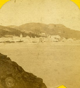 Italie Finale Ligure Panorama ancienne Photo Stereo 1865
