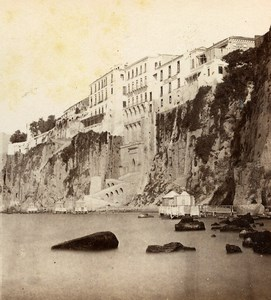 Italy Sorrento Casa di Tasso House Old Stereoview Photo Sommer 1865