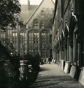 Belgique Liège Palais de Justice 2eme Cour Ancienne Photo Stereo NPG 1900's
