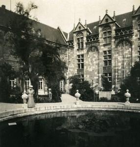 Belgique Liège Palais de Justice Bassin Ancienne Photo Stereo NPG 1900's
