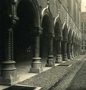 Belgique Liège Palais de Justice Galerie Arcades Ancienne Photo Stereo NPG 1900's