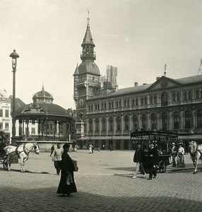 Belgium Ostend Oostende City Hall Old NPG Stereoview Photo 1900's