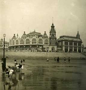 Belgium Ostend Oostende the Kursaal Old NPG Stereoview Photo 1900's
