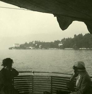 Italie Lac Majeur Punta Castagnola Ancienne Photo Stereo Possemiers 1900