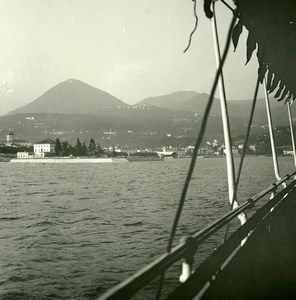 Italie Lac Majeur Intra panorama Ancienne Photo Stereo Possemiers 1900